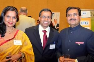 Ajit Kumar with Dr. Abhishek Gaur and Dr. Swati Gaur