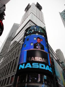 Dr Indran Indrakrishnan at Times Square NASDAQ