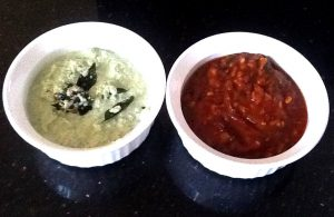 Tomato chutney coconut & curry leaves chutney