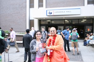 Georgia State University Student receives Bhagavat Vani from Shrila Maharaj