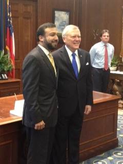 Paul Shailendra with Governor Nathan Deal