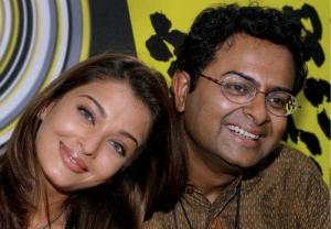 Rituparno with Aishwarya Rai Bachchan