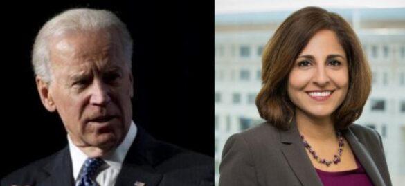 Joe Biden and Neera Tanden.